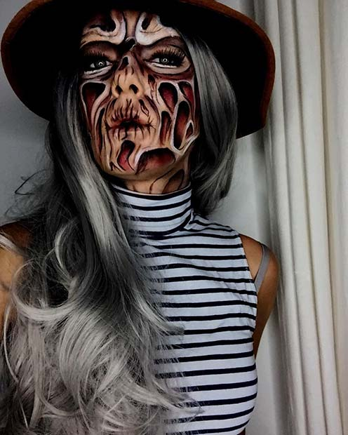 Freddy Krueger Halloween Makeup