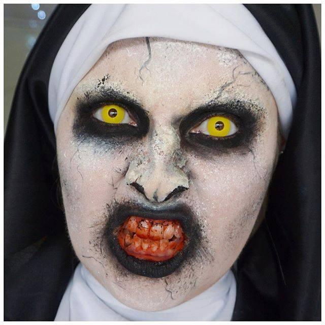 Ghoulish Nun Makeup For Halloween