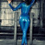 Luisa Möckel Blue Catsuit