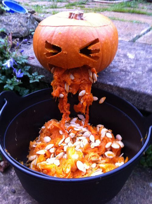 Puking Pumpkin Idea