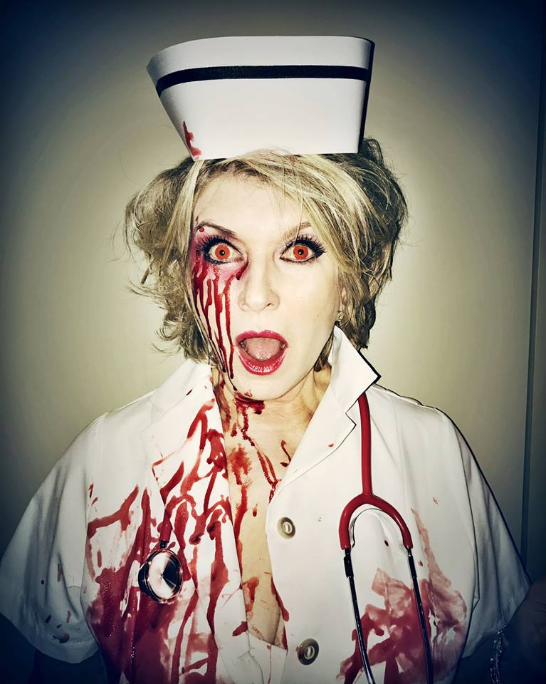 Scary Nurse Halloween Makeup