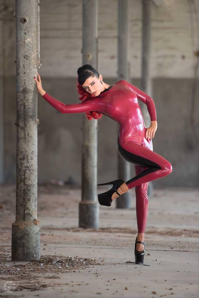 Sugarfairy Red Latex Suit