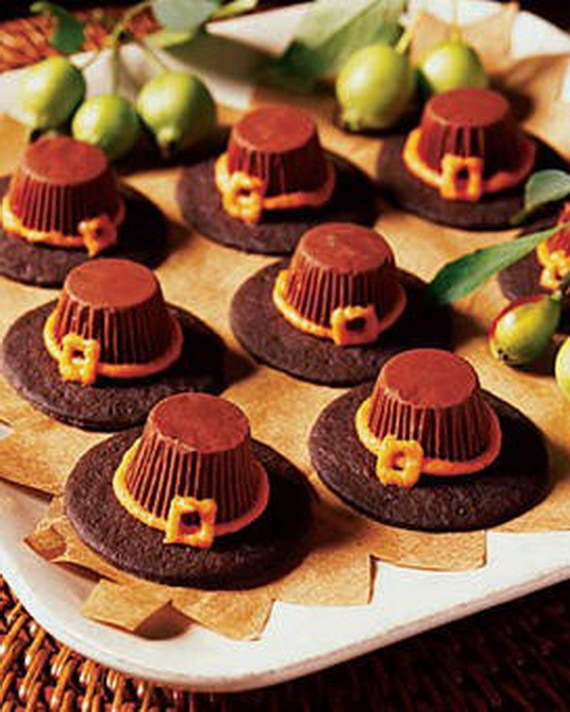 Pilgrim Hats Thanksgiving Cupcakes