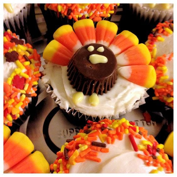 Thanksgiving Day Turkey Cupcakes