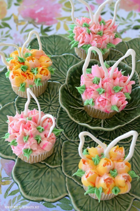 Blooming Bunny Ear Cupcakes