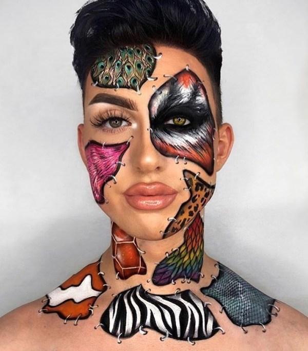 Animal Patches Halloween Makeup