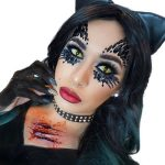 Creepy Cat Halloween Makeup