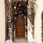 Front Door Hanging Skulls Decoration