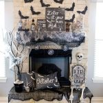 Halloween Fireplace Grave Design