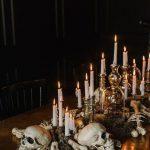 Halloween Table Skull Centerpiece