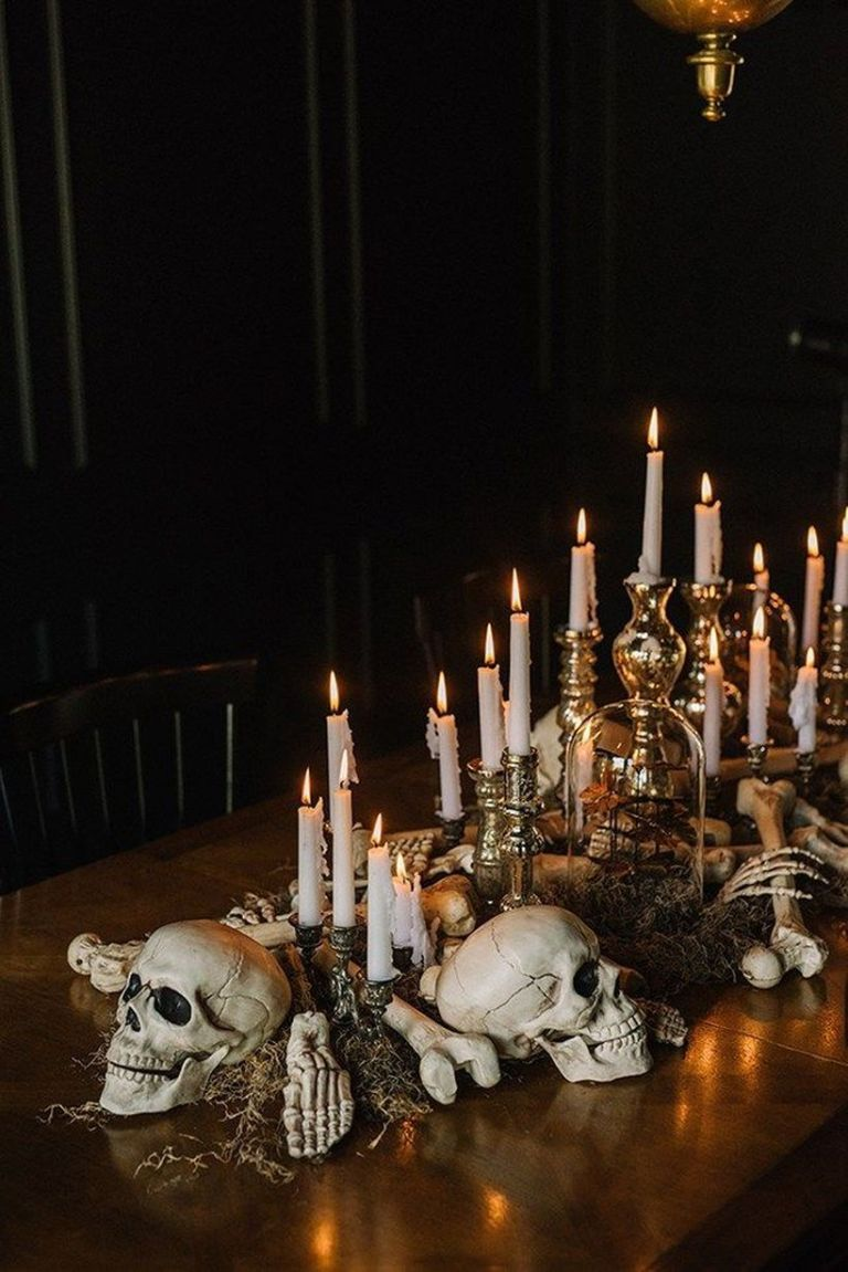 Halloween Table Skull Centerpiece