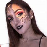 Melted Gold Halloween Makeup