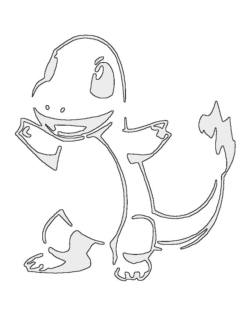 Pokemon Charizard Stencil