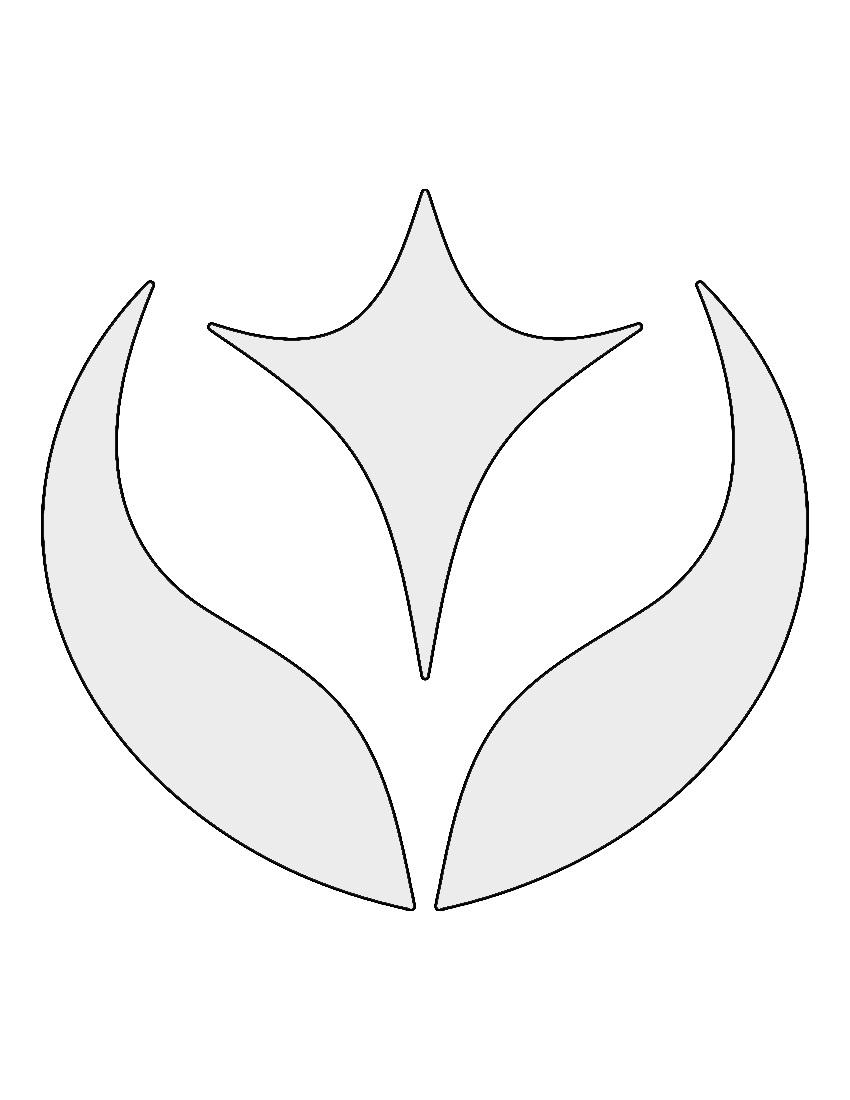 Pokemon Fairy Type Symbol Stencil