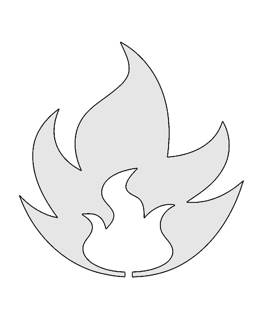 Pokemon Fire Type Symbol Stencil