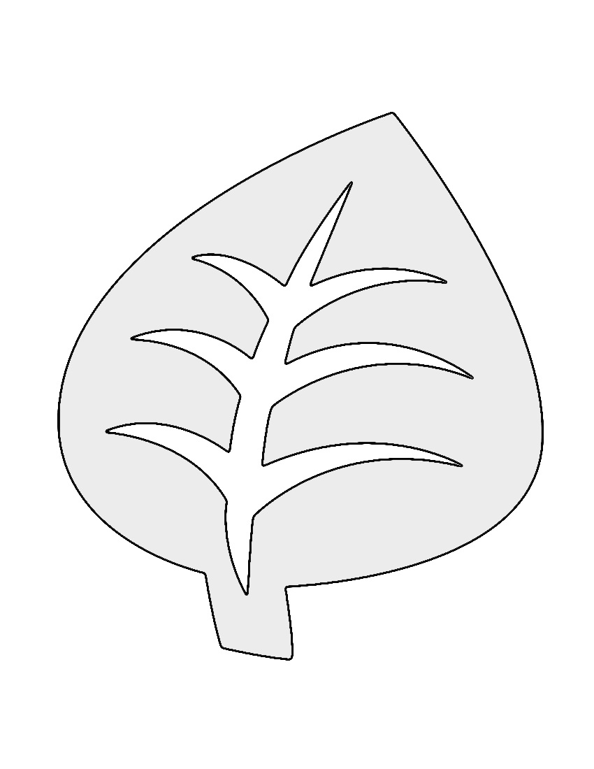 Pokemon Grass Type Symbol Stencil