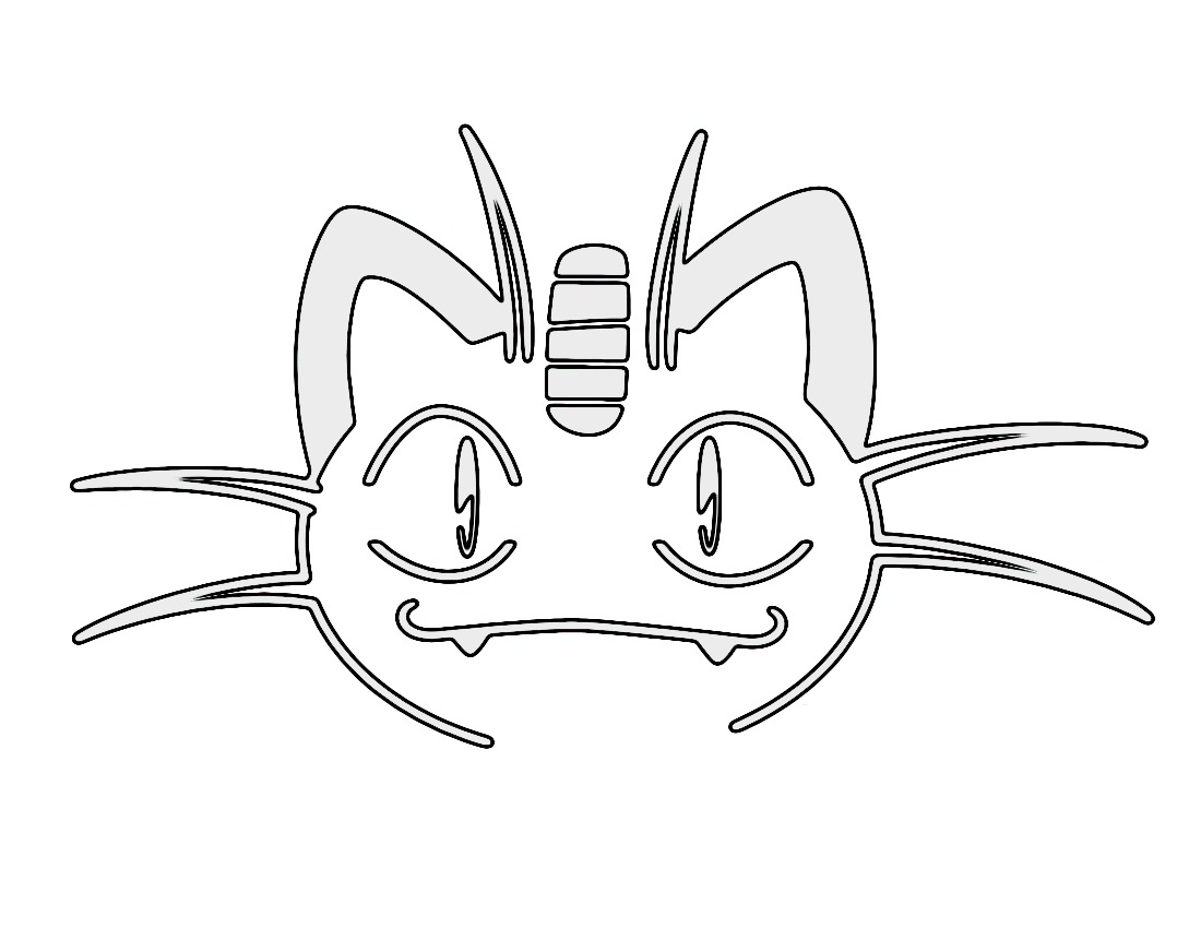 Pokemon Meowth Stencil