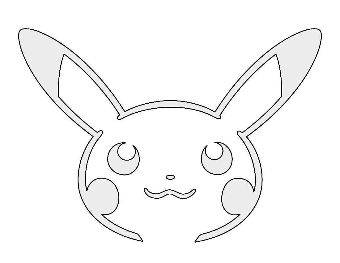 Pokemon Pikachu Stencil 02