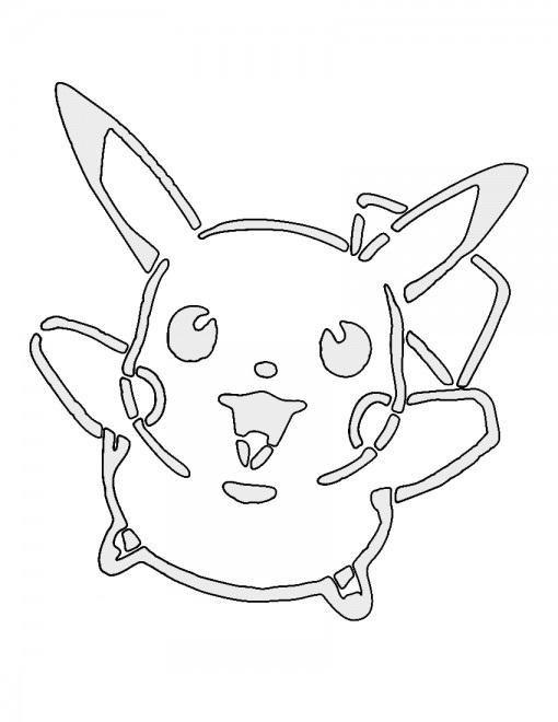 Pokemon – Pikachu Stencil