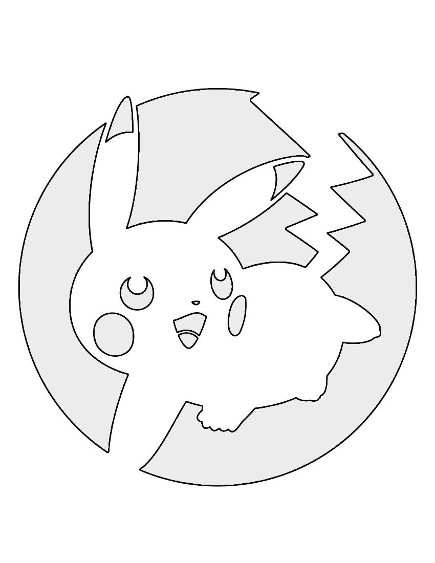 Pokemon Pikachu Stencil 04