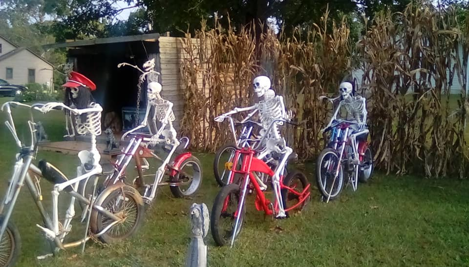 Skeletons On Bikes
