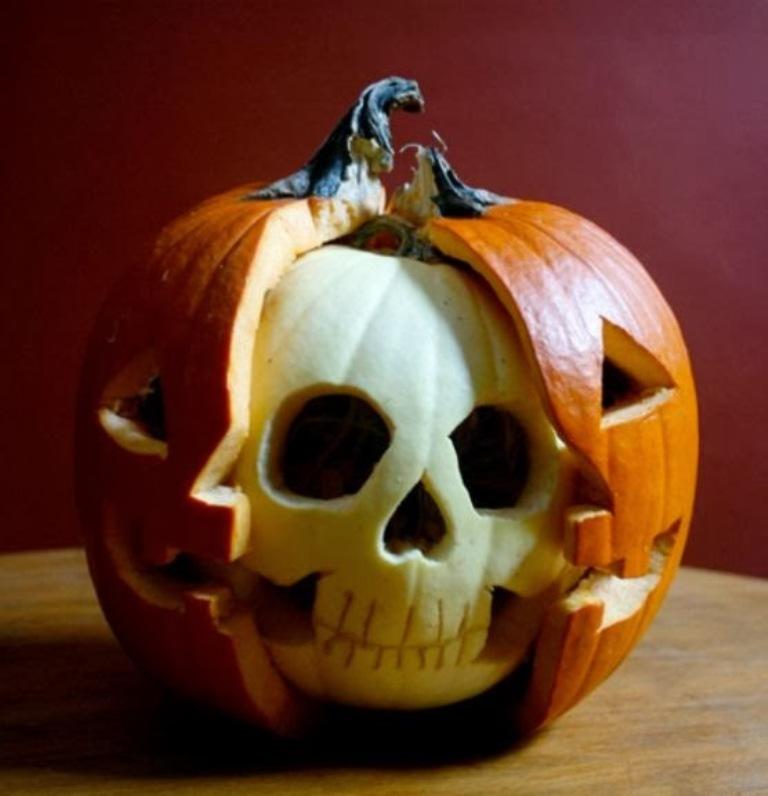 Skull Double Pumpkin