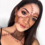 Stiched Face Halloween Makeup