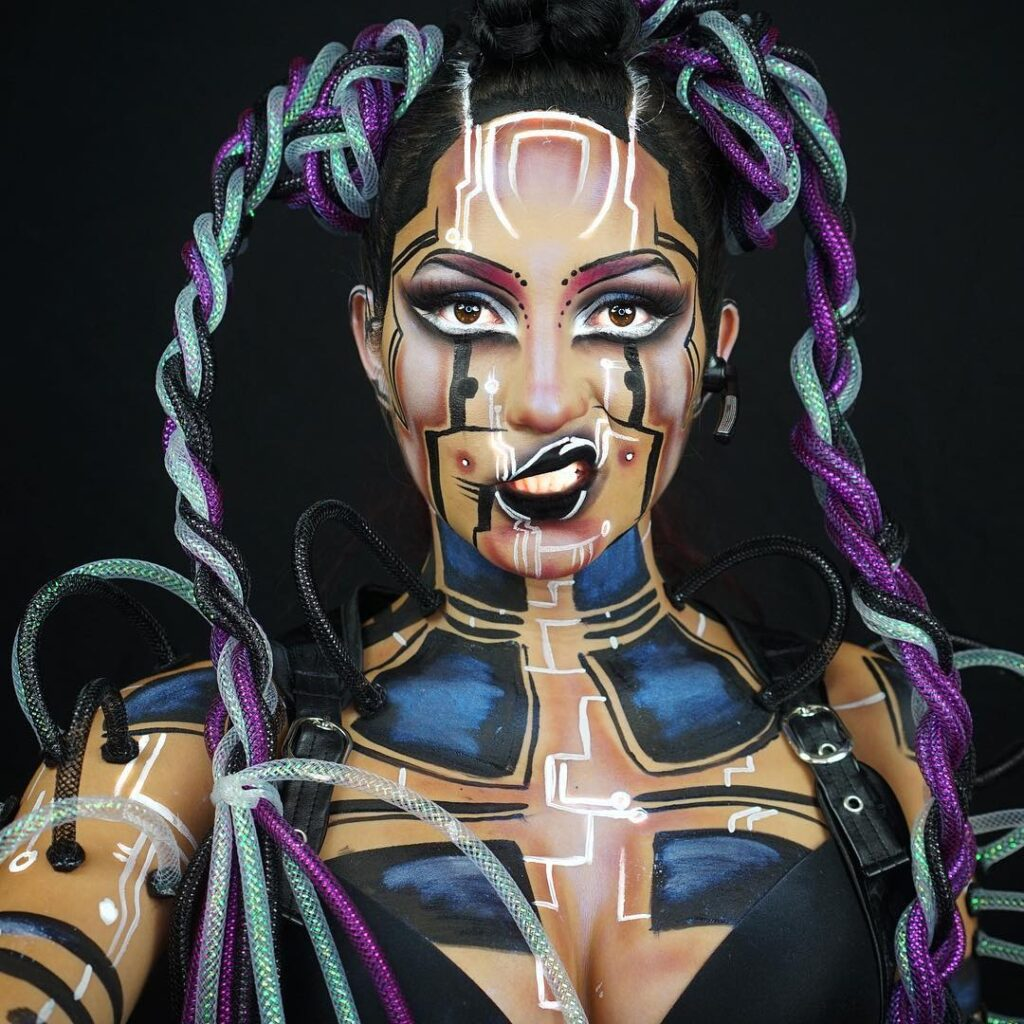 1 Cyberpunk Halloween Make Up Idea