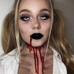 1 Zombie Schoolgirl Halloween Make Up Idea