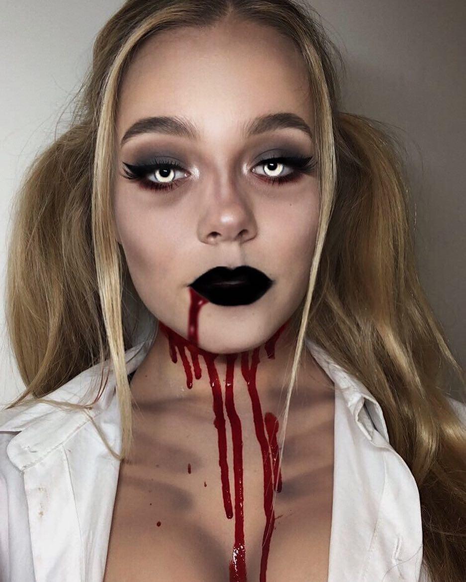 1 Zombie Schoolgirl Halloween Make Up Idea