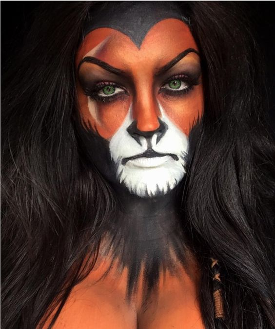 Animal Halloween Make Up Idea