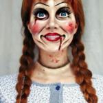 Annabelle Make Up Idea For Halloween