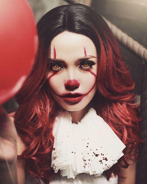 Clown Halloween Make Up Idea