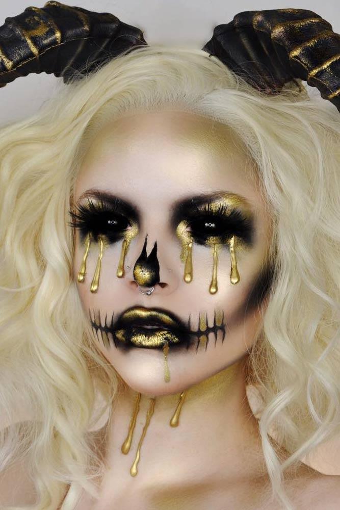 Demon Makeup Halloween Idea