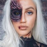 Dragon Eye Halloween Make Up Idea