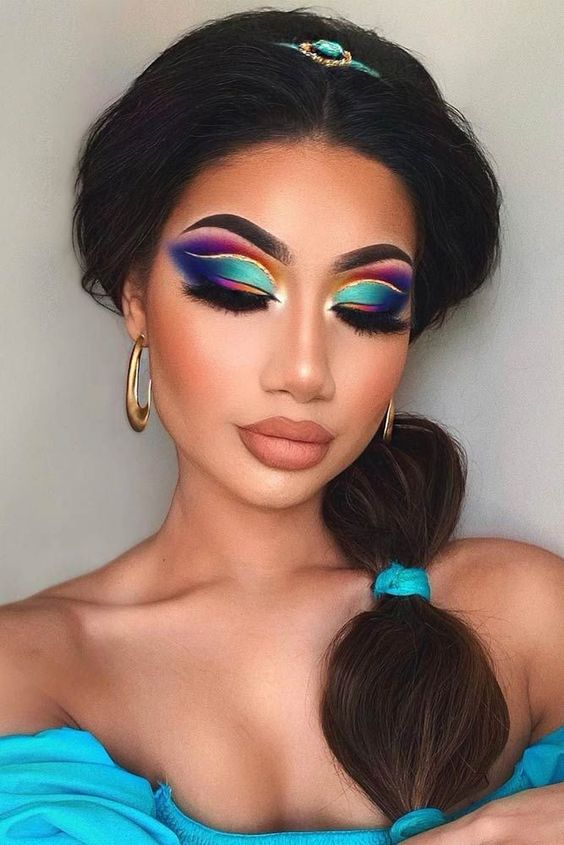 Jasmine Princess Halloween Make Up Idea