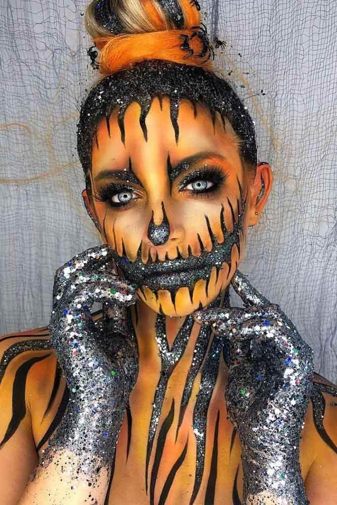 Pumpkin Makeup Halloween Idea