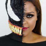 Venom Makeup Halloween Idea