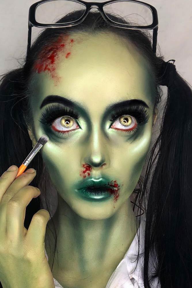 Zombie Makeup Halloween Idea
