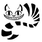 Chesire Cat Carving Pattern Stencil