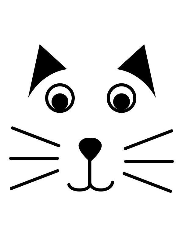Halloween Cat Carving Template 2