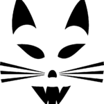Halloween Kitty Carving Template