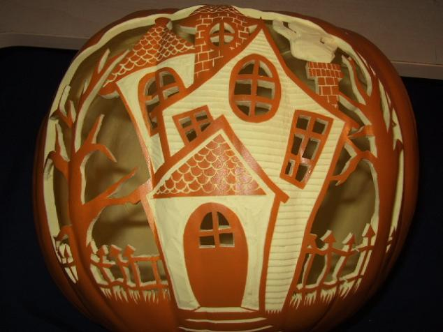Haunted House Pumpkin